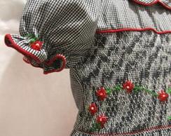 Vestido Xadrez Casinha de Abelha Smock