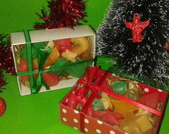 Kit com mini sabonetes de natal