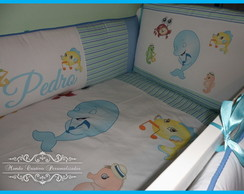 Kit Ber�o Personalizado Fundo Do Mar