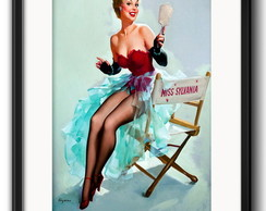 Quadro Pin Up Miss com Paspatur