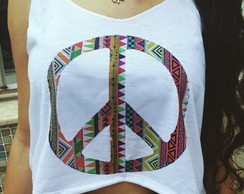 Cropped Peace - Hippie