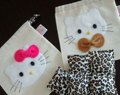 Saquinho Hello Kitty e Jogo 5 Marias On�