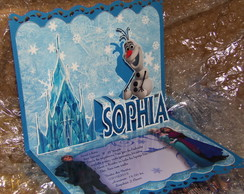 Lindos Convites Pop Up 3D Frozen -Mod1