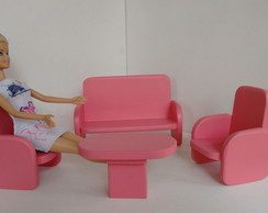 Moveis para Barbie - Sofa e poltrona.