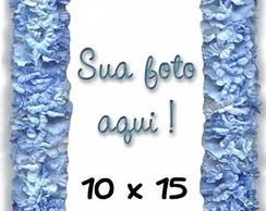 ~ Porta-Retrato de Flores Azuis ~