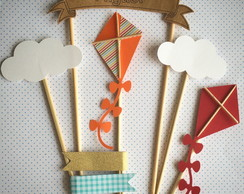 Cake Topper - Pipas, Nuvens