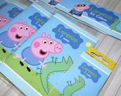 Kit Colorir George Pig {Lapela}