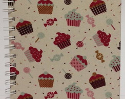 Caderno Pequeno 150x210 Cup Cake 80F