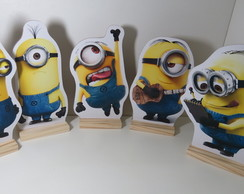 Kit 5 Totem Dos Minions Display Enfeite