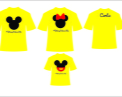 Camisetas da Minnie e Mickey