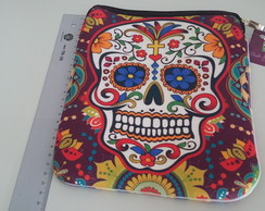 Capa de Ipad/Tablet caveira mexicana