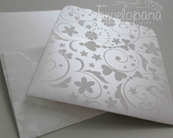 Envelope White Flowers