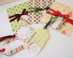 Kit Natal 20 Cart�es e Tags Presentes