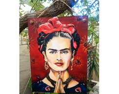 Placa Frida Kahlo 15x20