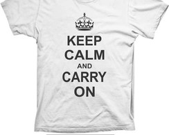 Camiseta Keep Calm and Carry On Algod�o