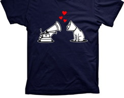 Camiseta Love dogs Algod�o