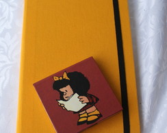 Kit caderno G + Mafalda Post-It