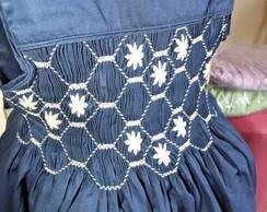 Vestido Exclusivo Azul Casinha de Abelha