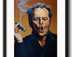 Quadro Jack Nicholson com Paspatur comprar usado  Brasil
