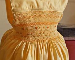 Vestido Amarelo Casinha de Abelha