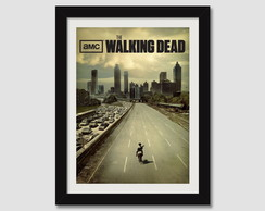 Walking Dead Quadro Moldura Tv Seriados