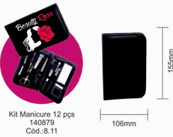 Kit manicure com 12 pe�as