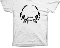 Camiseta I love Music Algod�o