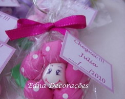 Lembran�a chaveiro flor biscuit