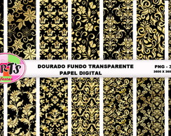 KIT DIGITAL DOURADO FUNDO TRANSPARENTE