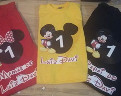 kit Camisetas Minie e Mickey 2
