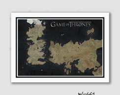 Quadro 70x50cm Seriados -Game Of Thrones