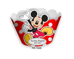 Wrapper para Cupcake Mickey Mouse