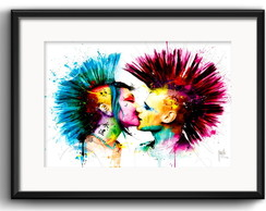 Quadro Punk Love Colors com Paspatur