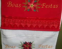 Kit Lavabo Natal - Boas Festas 2 Pe�as