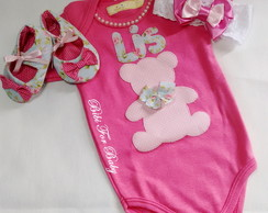 kit body Ursinha floral