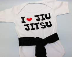 Body I love Jiu Jitsu - Preto