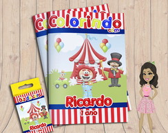 Kit colorir Circo 2
