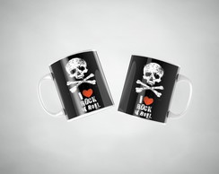 Caneca Porcelana Rock n' Roll