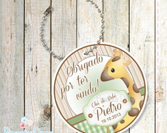 Tags de agradecimento Safari ch� de bb