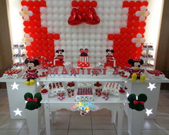 Decora��o Minnie vermelha