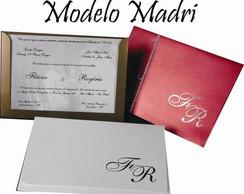 CONVITE CASAMENTO MODELO MADRI