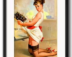 Quadro Pin Up Cook com Paspatur
