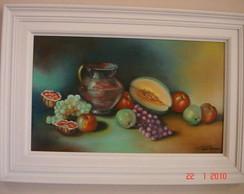 """Tela """"Frutas Tropicais """"Ano 1983"""