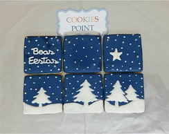 Cookies decorados - Kit Boas Festas