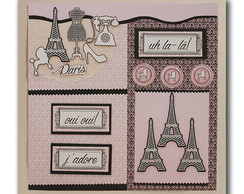 �lbum Branco Scrap Paris 32,5x34