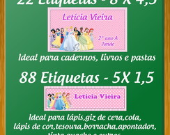 KIT ETIQUETA ESCOLAR - PRINCESAS