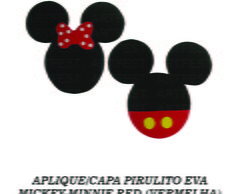 APLIQUE/CAPA PIRULITO EVA MICKEY-MINNIE