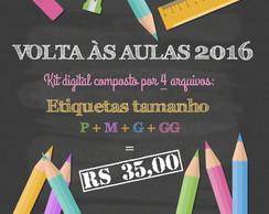 Kit digital de etiquetas escolares