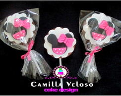 Pirulitos de chocolate Minnie