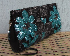Clutch Paet� Floral Azul